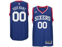 Mens Adidas Philadelphia 76ers (custom Made) Blue Sixers Jersey