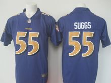 Mens Nfl Baltimore Ravens #55 Terrell Suggs Purple Color Rush Limited Jersey