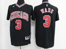 Mens Nba Chicago Bulls #3 Dwyane Wade Black Jersey