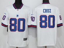 Mens   New York Giants #80 Victor Cruz White Color Rush Limited Jersey