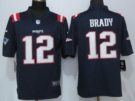 Mens   New England Patriots #12 Tom Brady Navy Blue Color Rush Limited Jersey