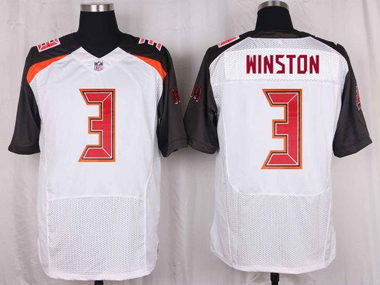 Mens Nfl Tampa Bay Buccaneers #3 Jameis Winston White Elite Jersey