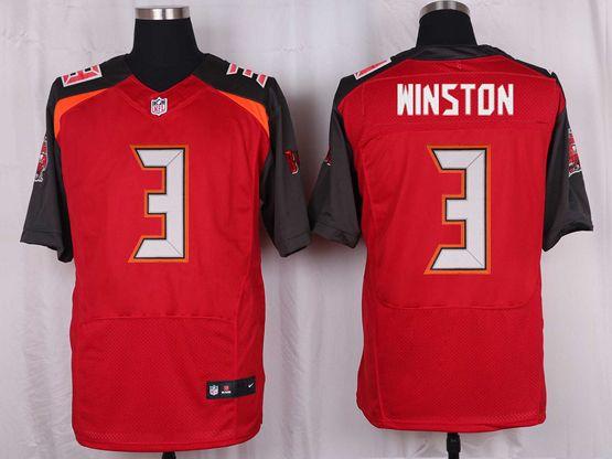 Mens Nfl Tampa Bay Buccaneers #3 Jameis Winston Red Elite Jersey