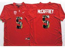Mens Ncaa Nfl Stanford Cardinal #5 Christian Mccaffrey Red Fashion Version Jersey