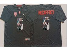 Mens Ncaa Nfl Stanford Cardinal #5 Christian Mccaffrey Black Fashion Version Jersey