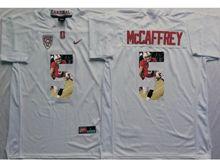 Mens Ncaa Nfl Stanford Cardinal #5 Christian Mccaffrey White Fashion Version Jersey