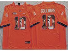 Mens Ncaa Nfl Clemson Tigers #10 Ben Boulware Orange Fashion Version Jersey