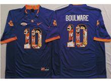 Mens Ncaa Nfl Clemson Tigers #10 Ben Boulware Purple Fashion Version Jersey