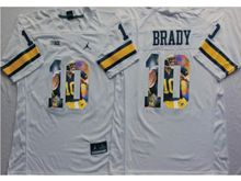 Mens Ncaa Nfl Michigan Wolverines #10 Tom Brady White Fashion Version Jersey