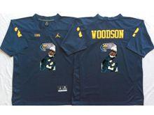 Mens Ncaa Nfl Michigan Wolverines #2 Charles Woodson Blue Fashion Version Jersey