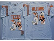 Mens Ncaa Nfl Texas Longhorns #34 Ricky Williams White Fashion Version Jersey
