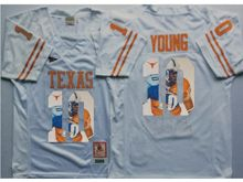 Mens Ncaa Nfl Texas Longhorns #10 Vince Young White Fashion Version Jersey