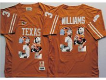 Mens Ncaa Nfl Texas Longhorns #34 Ricky Williams Yellow Fashion Version Jersey