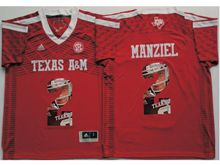 Mens Ncaa Nfl Texas A&m Aggies #2 Johnny Manziel Red Fashion Version Jersey