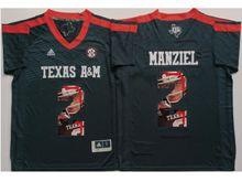 Mens Ncaa Nfl Texas A&m Aggies #2 Johnny Manziel Black Fashion Version Jersey