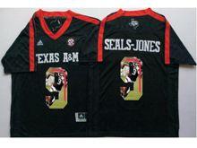 Mens Ncaa Nfl Texas A&m Aggies #9 Ricky Seals-jones Black Fashion Version Jersey