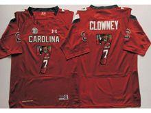 Mens Ncaa Nfl South Carolina Gamecock #7 Jadeveon Clowney Red Fashion Version Jersey