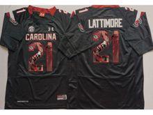 Mens Ncaa Nfl South Carolina Gamecock #21 Marcus Lattimore Black Fashion Version Jersey