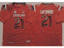 Mens Ncaa Nfl South Carolina Gamecock #21 Marcus Lattimore Red Fashion Version Jersey