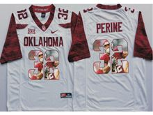 Mens Ncaa Nfl Oklahoma Sooners #32 Samaje Perine White Fashion Version Limited Jersey