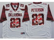 Mens Ncaa Nfl Oklahoma Sooners #28 Adrian Peterson White Fashion Version Limited Jersey