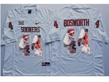 Mens Ncaa Nfl Oklahoma Sooners #44 Brian Bosworth White Fashion Version Jersey