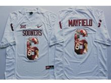 Mens Ncaa Nfl Oklahoma Sooners #6 Baker Mayfield White Fashion Version Jersey