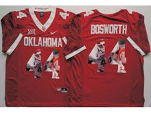 Mens Ncaa Nfl Oklahoma Sooners #44 Brian Bosworth Red Fashion Version Limited Jersey