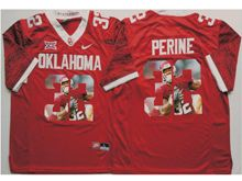 Mens Ncaa Nfl Oklahoma Sooners #32 Samaje Perine Red Fashion Version Limited Jersey