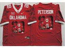 Mens Ncaa Nfl Oklahoma Sooners #28 Adrian Peterson Red Fashion Version Limited Jersey
