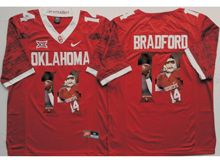 Mens Ncaa Nfl Oklahoma Sooners #14 Sam Bradford Red Fashion Version Limited Jersey