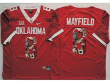Mens Ncaa Nfl Oklahoma Sooners #6 Baker Mayfield Red Fashion Version Limited Jersey
