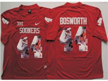 Mens Ncaa Nfl Oklahoma Sooners #44 Brian Bosworth Red Fashion Version Jersey