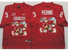 Mens Ncaa Nfl Oklahoma Sooners #32 Samaje Perine Red Fashion Version Jersey