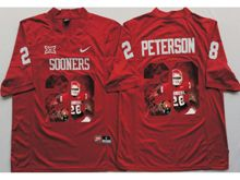 Mens Ncaa Nfl Oklahoma Sooners #28 Adrian Peterson Red Fashion Version Jersey