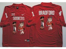 Mens Ncaa Nfl Oklahoma Sooners #14 Sam Bradford Red Fashion Version Jersey