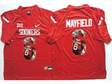 Mens Ncaa Nfl Oklahoma Sooners #6 Baker Mayfield Red Fashion Version Jersey