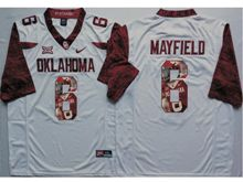 Mens Ncaa Nfl Oklahoma Sooners #6 Baker Mayfield White Fashion Version Limited Jersey