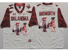 Mens Ncaa Nfl Oklahoma Sooners #44 Brian Bosworth White Fashion Version Limited Jersey
