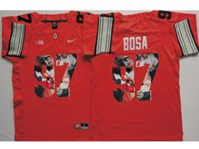 Mens Ncaa Nfl Ohio State Buckeyes #97 Joey Bosa Red Fashion Version Jersey