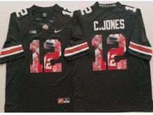 Mens Ncaa Nfl Ohio State Buckeyes #12 Cardale Jones Black Fashion Version Jersey