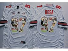 Mens Ncaa Nfl Ohio State Buckeyes #97 Joey Bosa White Red Fashion Version Jersey
