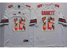 Mens Ncaa Nfl Ohio State Buckeyes #16 J.t. Barrett White Red Fashion Version Jersey