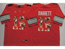 Mens Ncaa Nfl Ohio State Buckeyes #16 J.t. Barrett Red Gray Fashion Version Jersey