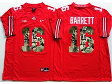 Mens Ncaa Nfl Ohio State Buckeyes #16 J.t. Barrett Red Fashion Version Jersey