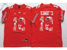 Mens Ncaa Nfl Ohio State Buckeyes #12 Cardale Jones Red Fashion Version Jersey