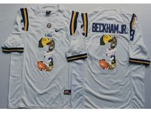Mens Ncaa Nfl Lsu Tigers #3 Odell Beckham Jr. White Fashion Version Limited Jersey