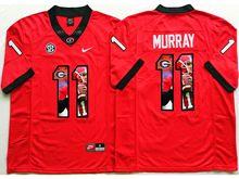 Mens Ncaa Nfl Georgia Bulldogs #11 Aaron Murray Red Fashion Version Jersey