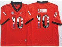 Mens Ncaa Nfl Georgia Bulldogs #10 Jacob Eason Red Fashion Version Jersey