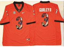 Mens Ncaa Nfl Georgia Bulldogs #3 Todd Gurley Ii Red Fashion Version Jersey